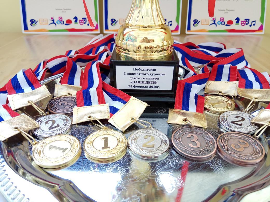 награда в шахматном турнире детский центр наши дети