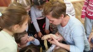встреча с животными в детском центре наши дети в Марьино (1)
